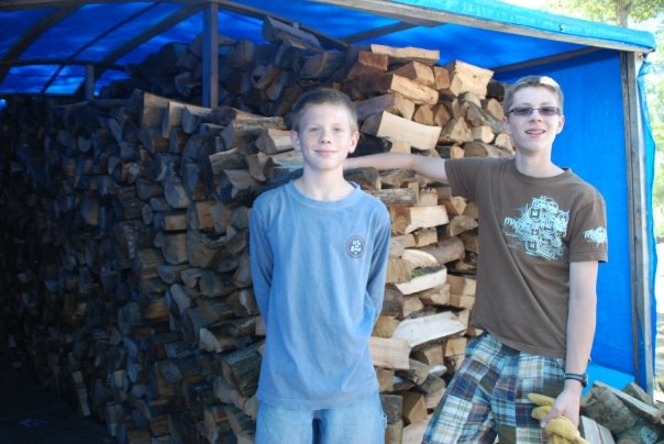 Boys and wood
