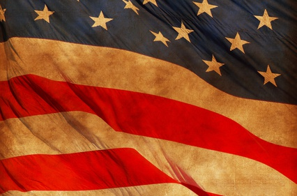 American Vintage Flag Abstract Background. USA Flag Concept Backdrop.